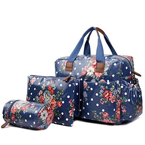 miss-lulu-4-piece-flower-polka-dot-baby-nappy-changing-bag-set-navy