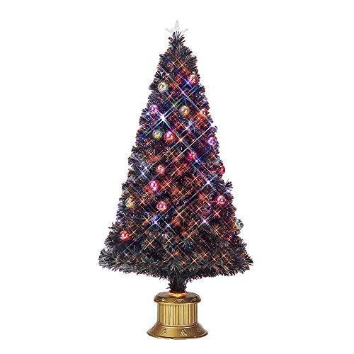 フローレックス(FLOREX) クリスマスツリー ファイバーツリー ファンタジーレインボーLED&ホワイトLEDボールグリーンファイバー 高さ150cm FX-4024