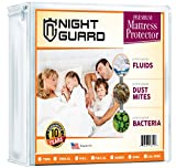 Night Guard - Premium Hypoallergenic Waterproof Mattress Protector - Vinyl Free - Cotton Terry Cover - 10 Year Warranty (Queen)