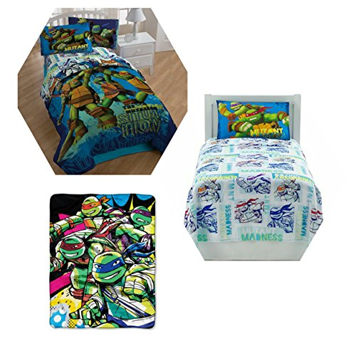 Teenage Mutant Ninja Turtles Kids and Toddlers 5 Pc Twin Bedding Set ...