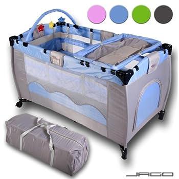 pas cher lit parapluie avec matelas bleu lit de voyage d 39 appoint pour b b enfant diverses. Black Bedroom Furniture Sets. Home Design Ideas