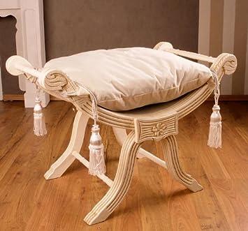 barocke sitzgondel hocker louis xv antik wei shabby chic palazzo exclusive dc891. Black Bedroom Furniture Sets. Home Design Ideas