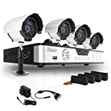 ZMODO 8 CH CCTV Surveillance DVR Outdoor Camera System 500GB