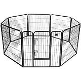 BestPet Hammertone Finish Heavy Duty Pet Playpen Dog Exercise Pen Cat Fence S, 32-Inch