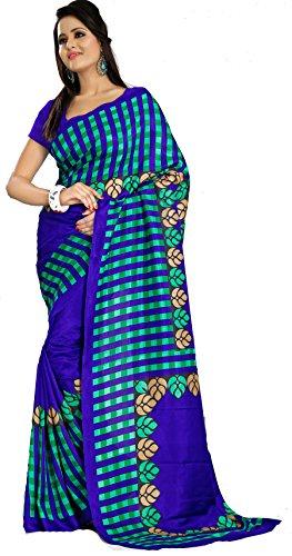 Samskruti Sarees Women Checks Art Silk Printed Saree (SPAS-52