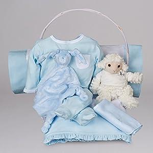 Canastilla bebé Serenity Esencial de BebeDeParis-Azul- cesta regalo recién nacido por BebeDeParis