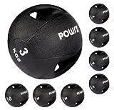 Medizinball mit Griffen Profi 3 - 10 kg von POWRX