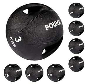 Balle médicale à prises / Double Grip Medicin Ball / Fitness 5 kg