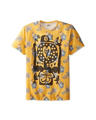 Marc Jacobs Men's Large Floral Printed Crew Neck T-Shirt