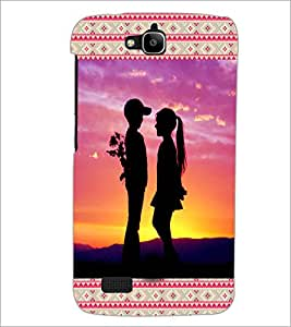 PrintDhaba Couple D-3613 Back Case Cover for HUAWEI HONOR HOLLY (Multi-Coloured)