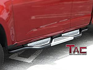 tac 2015 2016 chevy colorado gmc canyon crew cab step running side boards bars. Black Bedroom Furniture Sets. Home Design Ideas
