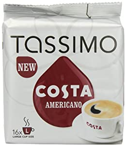 Buy TASSIMO Costa Americano 16 T DISCs (Pack of 5, Total 80 T DISCs/pods) - Mondelez