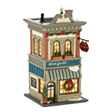 Department 56 Christmas in the City Village Wakefield Books Lit House, 8.07-Inch