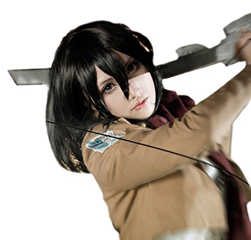 Nouqi® Anime Attack on Titan Girls Mikasa Ackerman Cosplay Wigs