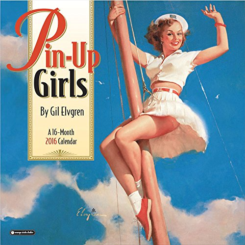 Orange Circle Studio 16-Month 2016 Wall Calendar, Pinup Girls by Gil Elvgren