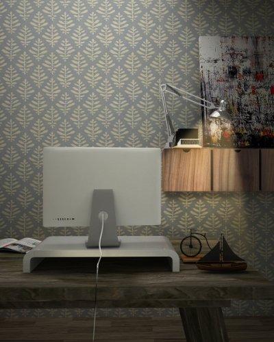 Lavolta Stand Supporto per Computer Monitor Schermo PC LCD TV AOC ASUS BenQ Dell Eizo Fujitsu LG Philips Samsung Viewsonic - Bianco