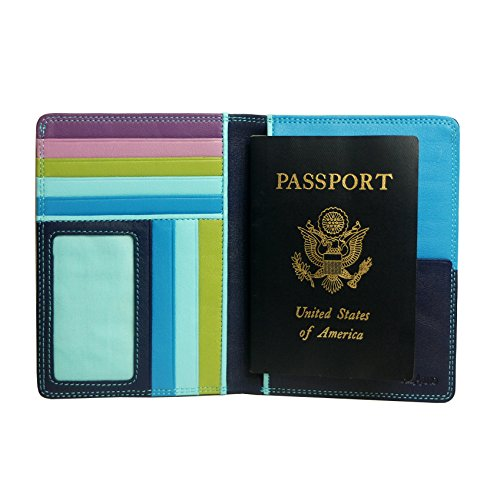 belarno-a236-leather-zip-passport-cover-blue-multicolor