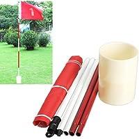 77tech Backyard Practice Golf Hole Pole Cup Flag Stick, 5 Section,golf Putting Green Flag Stick