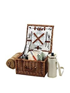 Picnic at Ascot Cheshire Basket for 2 with Coffee Set and Blanket from Picnic at Ascot