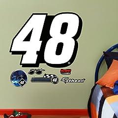 NASCAR Jimmie Johnson #48 Logo Fathead Jr. Wall Graphic by Fathead