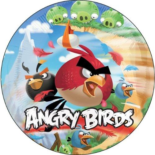 Tortenaufleger Tortenfoto Aufleger Foto Bild Angry Birds rund ca. 20 cm (3) *NEU*OVP*
