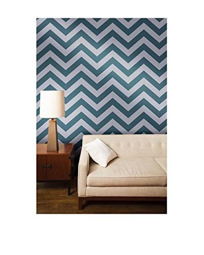 Tempaper Designs Zee Self-Adhesive Temporary Wallpaper, Teal, 20.5 x 33'