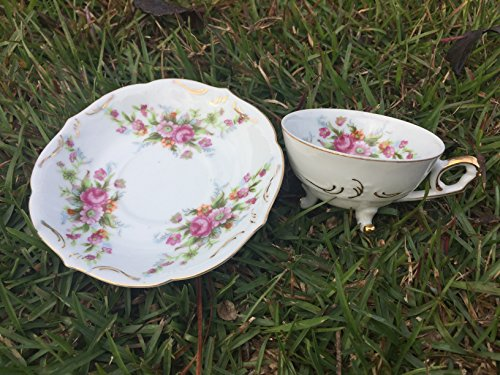 Vintage Made in Japan Fine China Tea Cup and Saucer Soy Candle Vintage Fine China Japan
