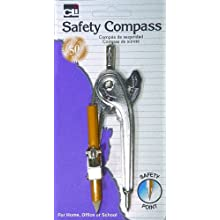 Charles Leonard Inc., Compass, With Safety Point, Metal, 1/Card (80365)