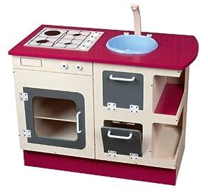 Jb bois la marchande la dinette meuble cuisine en - Dinette cuisine en bois ...