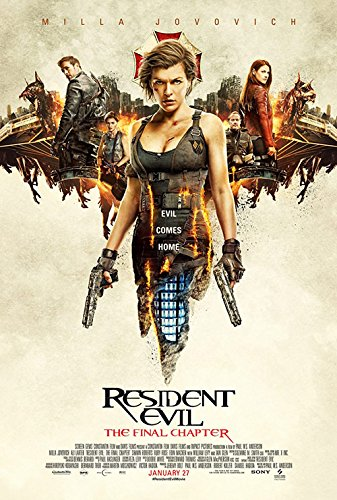 Resident Evil Final Chapter Movie Poster