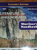 Holt Literature And Language Arts - Teacher's Edition - Third Course - (Warriner's Handbook) (0030992303) by John E. Warriner
