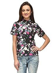 Vemero Women's Crepe Shirt_VCT001-BLK_ Multicoloured_XL