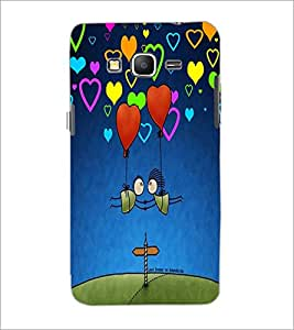 PrintDhaba Hearts D-3257 Back Case Cover for SAMSUNG GALAXY GRAND PRIME (Multi-Coloured)
