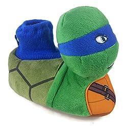 Teenage Mutant Ninja Turtles Toddler Boy\'s Sock Top Slippers (7-8)
