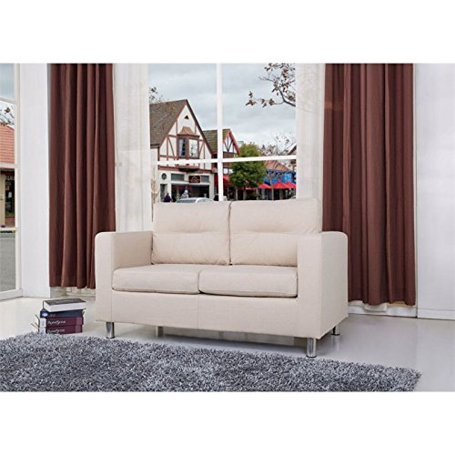 Gold Sparrow Detroit Fabric Loveseat in Beige