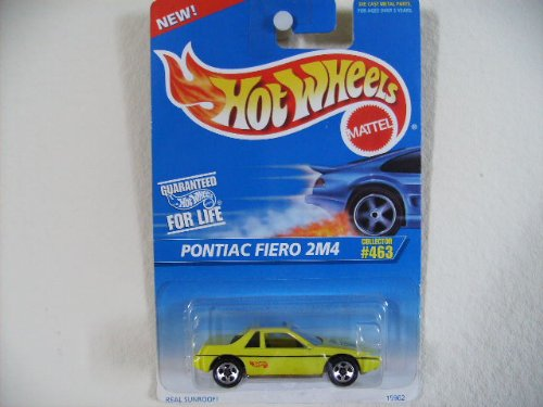 Hot Wheels Pontiac Fiero 2M4 1996 #463 5 SPOKE WHEELS