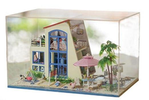 Maison De PoupéesPoupée Mini maison meubles Kit décoration maison Miniature artisanat en bois maison avec meubles