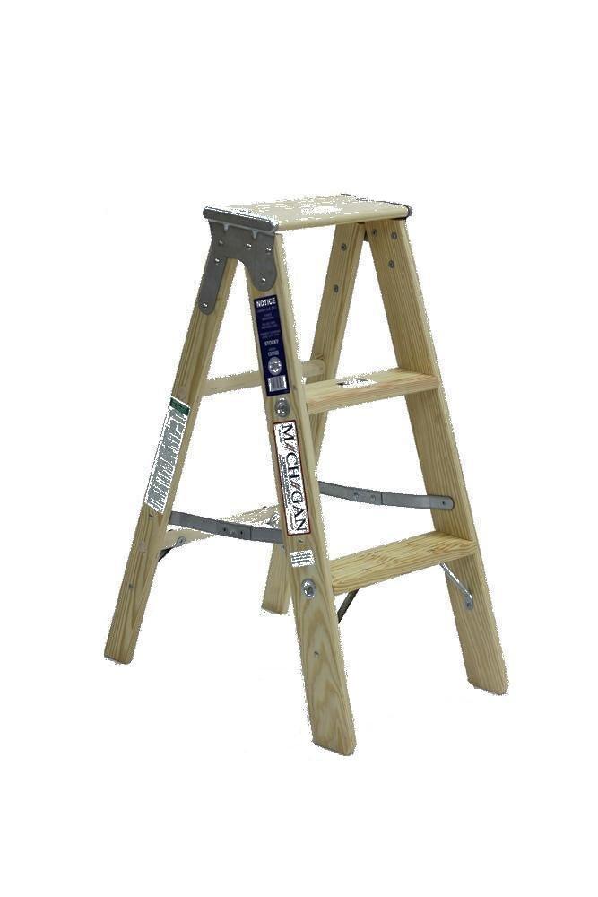 Michigan Ladder 1311-03 250 Pound Duty Rating Type 1 Stocky Wood ...