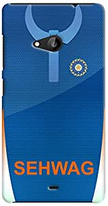 Kasemantra Sehwag Jersey Case For Microsoft Lumia 535