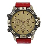 COSMIC ANALOG MEN WATCH- RED LEATHER STRAP