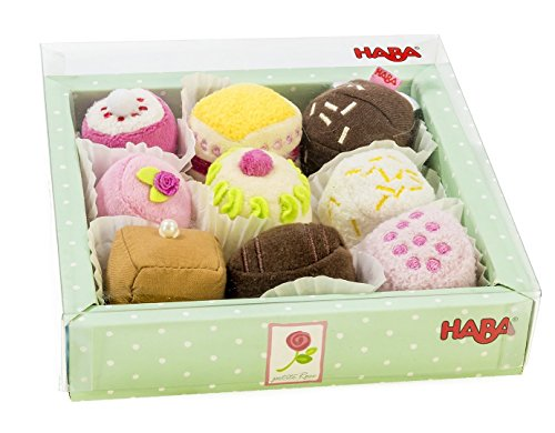 HABA Biofino Soft Petit Fours Set of 9 Plush Desserts - Perfect for Tea Parties (Play Dessert Food compare prices)