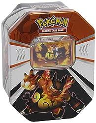 TC Pokemon TinBox 25 Flambirex. Die neuen Pokemon Tin Boxen präsentieren die zweite Evolutionsstufe der drei Starter-Pokemon aus Pokemon Schwarze und Weiße Edition: das Hoheit-Pokemon Serpiroyal, das Feuerschwein-Pokemon Flambirex und das Würde-Pokem...