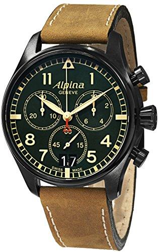 Alpina-Mens-AL372GR4FBS6-SmartimePilot-Analog-Display-Swiss-Quartz-Brown-Watch