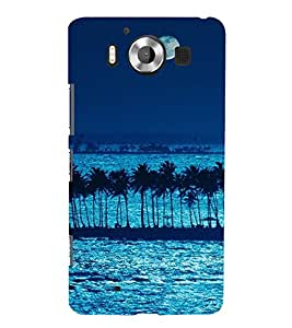 99Sublimation Blue Ocean and Moon 3D Hard Polycarbonate Back Case Cover for Microsoft Lumia 950, Nokia Lumia 950
