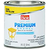 Rust Oleum 2109 Do it Best Premium Latex Enamel-SUN YELLOW LATEX ENAMEL
