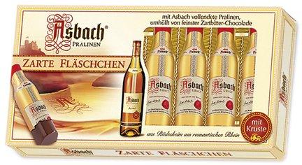 Asbach Uralt Brandy 8 Filled Bottle Shaped Chocolates