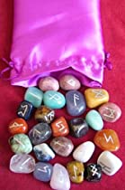 Crystal Rune Stone Set -25 semi-precious Rune Stones - from Spiritual Gifts. Usually dispatched within 2 working days.