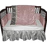 Baby Doll Crocodile Crib Bedding Set, Pink