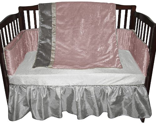Baby Doll Crocodile Crib Bedding Set, Pink