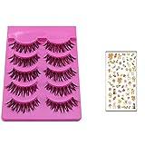 Bluelans® 5 Paar Falsche künstliche Wimpern Schwarz Eyelasches Wimpernverlängerung Make-up